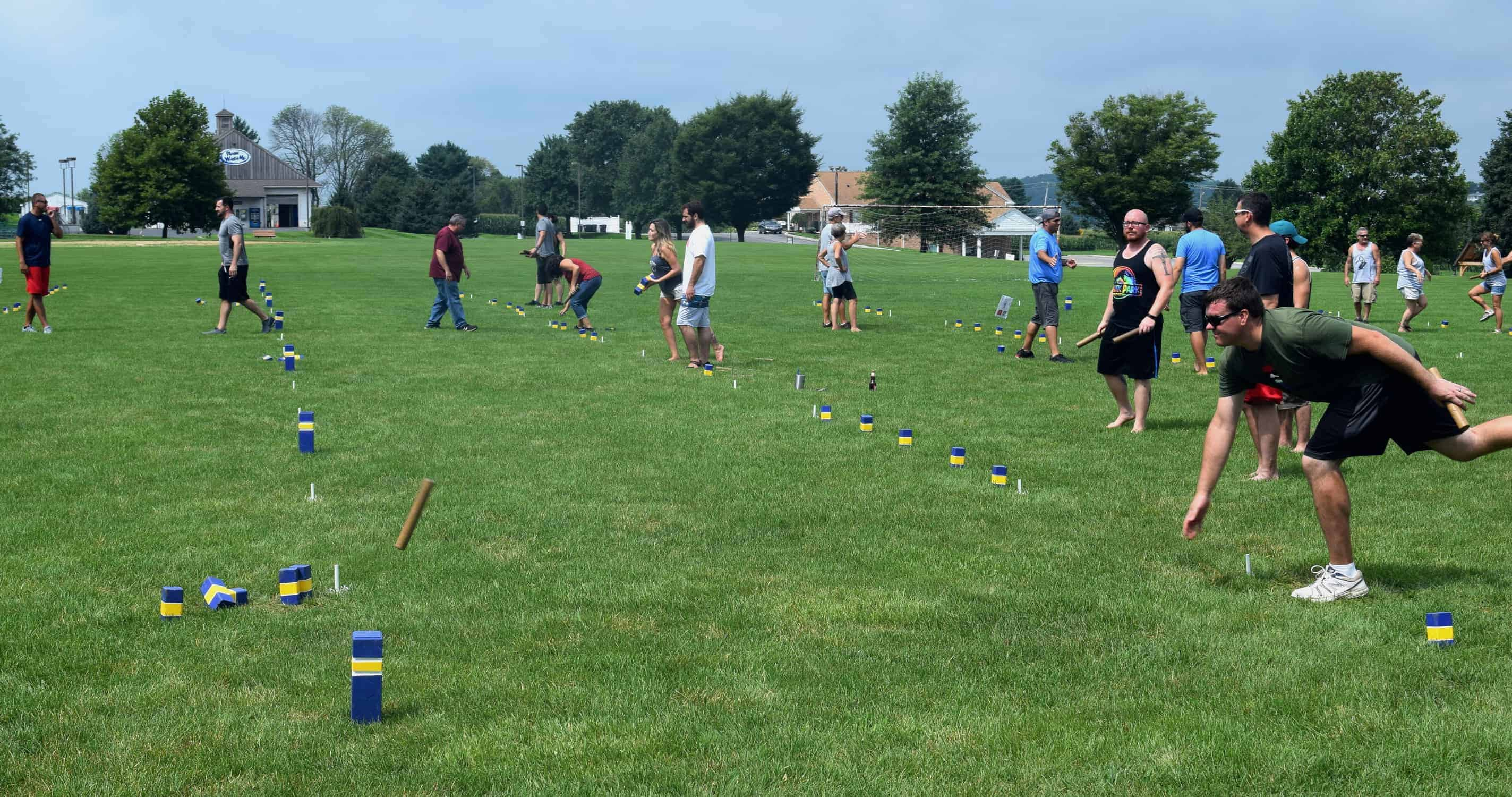 Image result for Kubb action shot