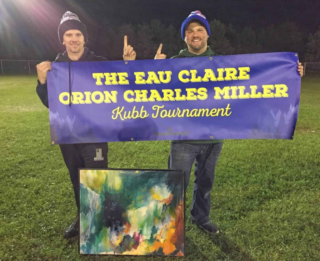 Photo of Tyr's Tre at the 2018 Eau Claire Orion Charles Miller Kubb Tournament.