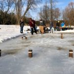 Photo from Kubb on the Pond Ice Games.