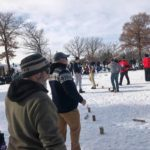 Photo from 2020 Captain Ken's Loppet Kubb Tournament.